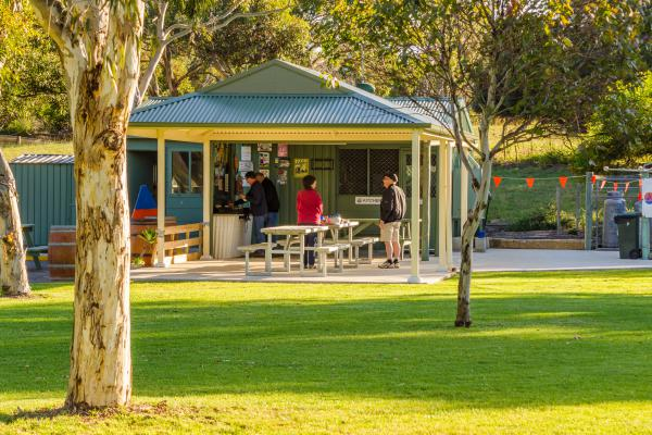 Camp Kitchen Lake Albert Caravan Park Meningie BBQ- please note since this photo camp kitchen has been made 3 x the size